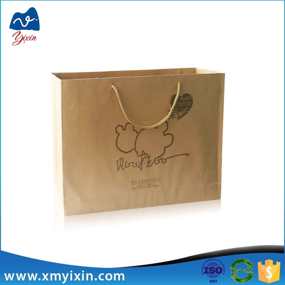 Xiamen supplier made printed kraft paper bag price