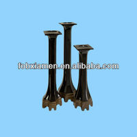 Set 3 Black Ceramic Pillar Candle Holders