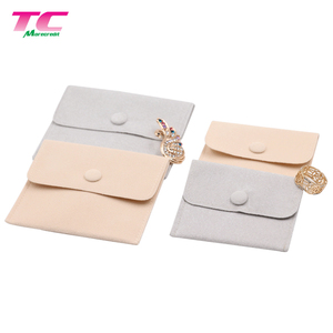 Double Layer Velvet Flannel Envelope Jewelry Pouch Luxury Suede Jewelry Snap Pouch For Bracelet Necklace Watch