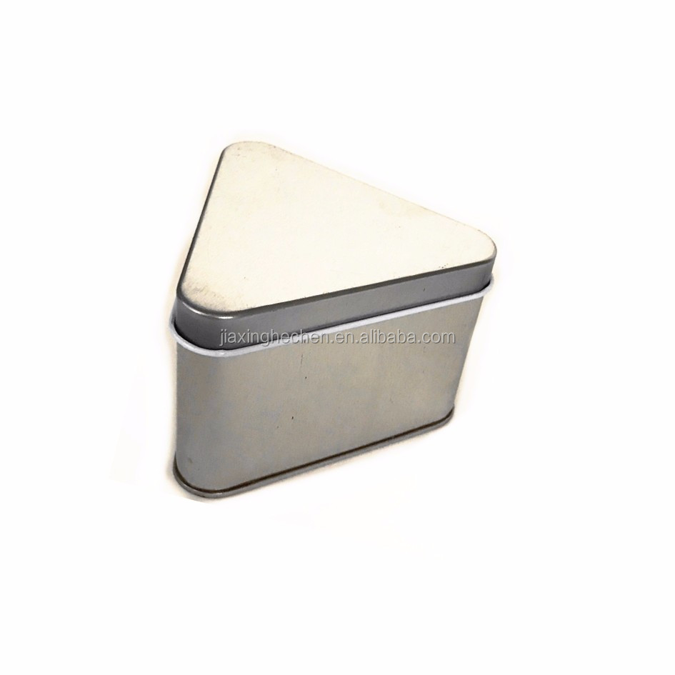 Metal candle packing container triangle tin box