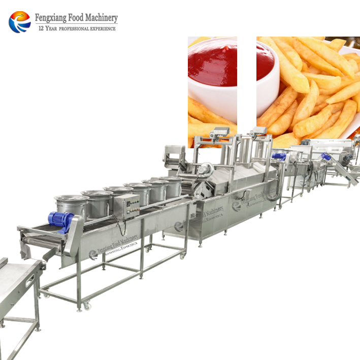 CHIPS PRODUCTIELIJN BLANCHEREN MACHINE