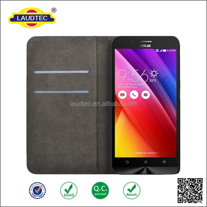 New magnetic PU leather phone cover flip wallet cover case for Asus Zenfone Max ZC550KL -------laudtec