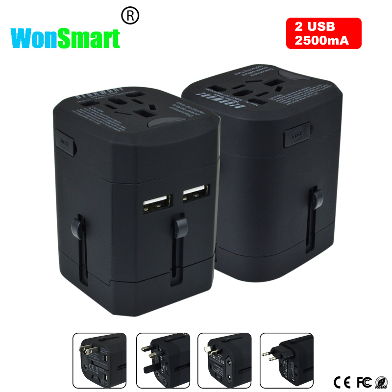 Best selling USB travel charger adapter output 2.5A fast charging travel adapter with EU US UK AUS plugs all in one