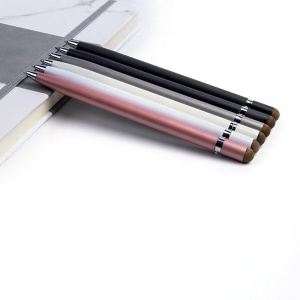 high quality design rose gold metal fiber stylus touch screen twist ball point pen with business custom logo