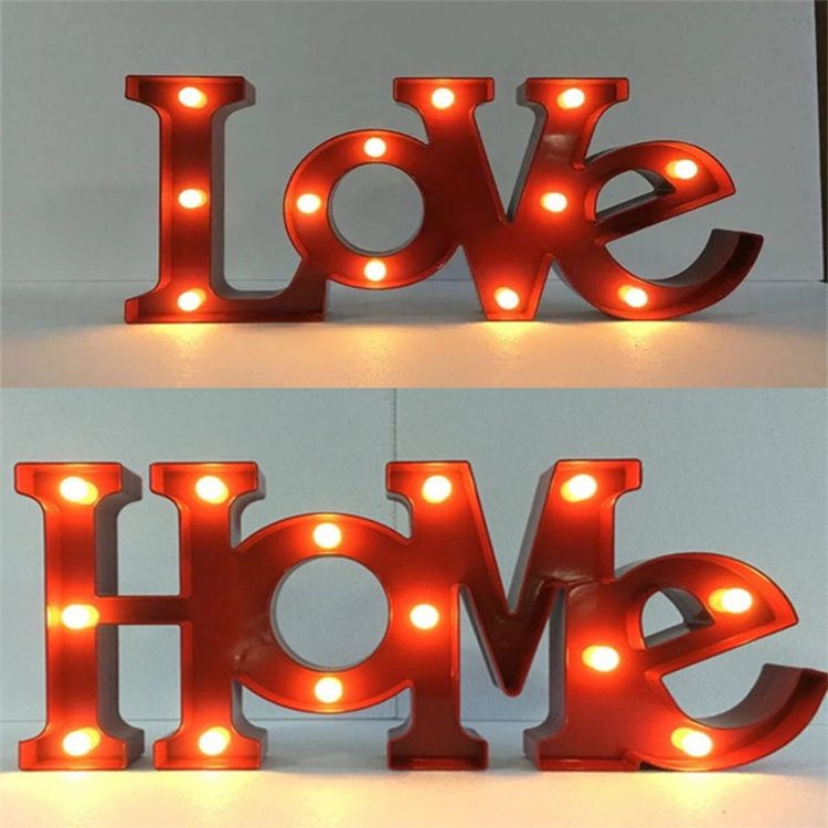 LED light lamp waterproof illuminated love light up letters wedding holiday decoration letter lamps