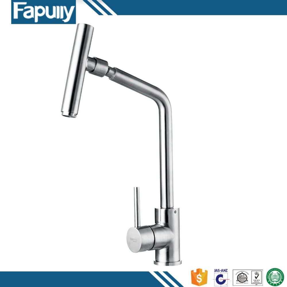 Fapully 360 - degree rotating faucet tap brushed nickel stainless steel Kitchen faucet