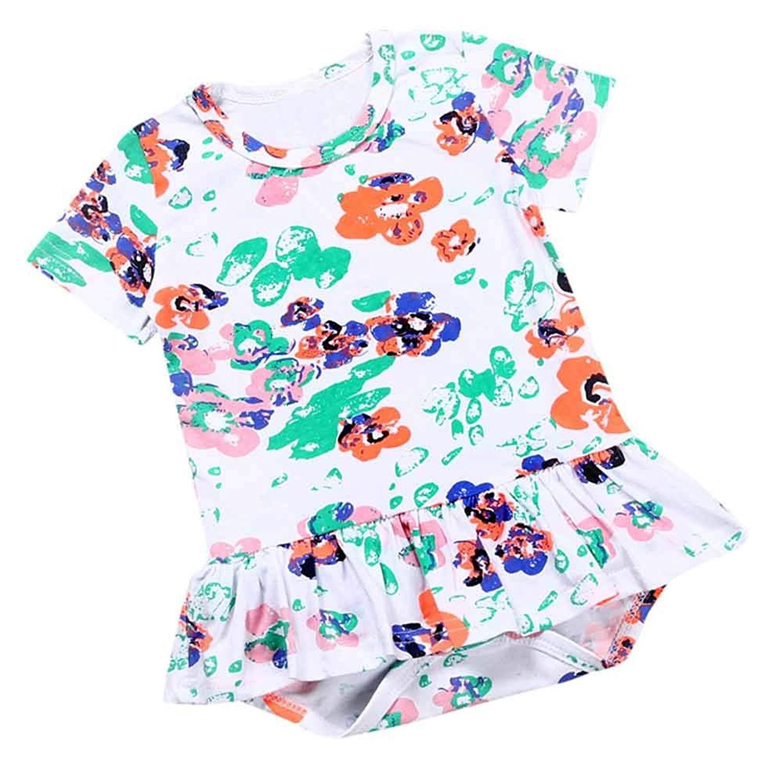 042728543 Get Quotations · Newborn Summer Baby Girl Flower Short Sleeve Dress Sleep 'N  Play