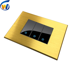 metal screwless coaxial wall plate