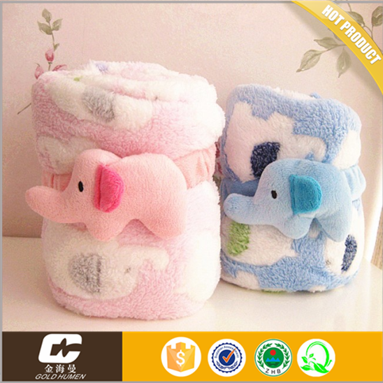 hot popular custom new knitted baby products coral fleece blanket