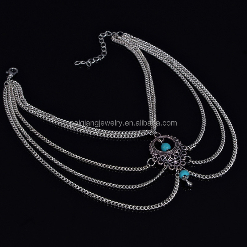 2015 Tribal jewelry fashionable women beach turquoise bead anklet