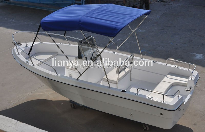 China 5m lightweight fishing boat fiberglass boat with for Lightweight outboard motors for sale