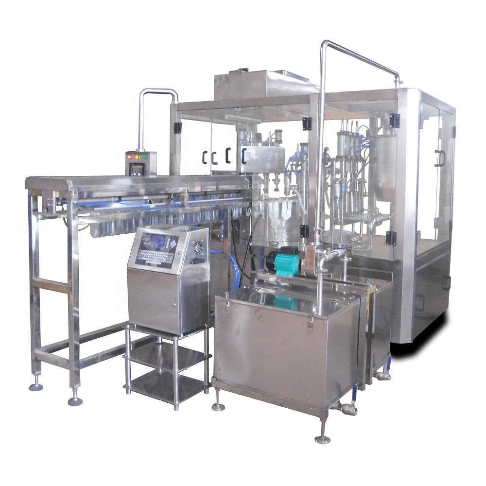 Shanghai COSINE full automatic spout pouch doy-pack bag filling capping machine for packing fruit juice