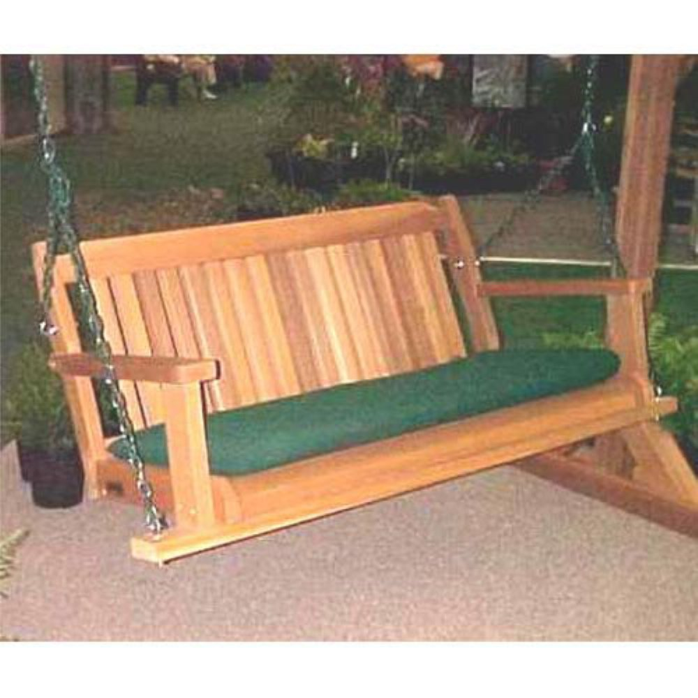Wood Country Cabbage Hill 4 ft. Cedar Porch Swing