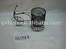 Black wire round basket with bike collecting home decor crafts