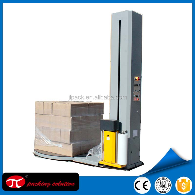Manufacturer of Brick and cement pallet stretch wrap machine and stretch wrapper