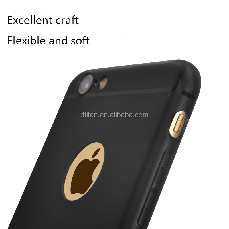 DFIFAN For iphone7 case tpu,2017 New Hot Selling Black Cell Phone Case for Apple iPhones 7 cases