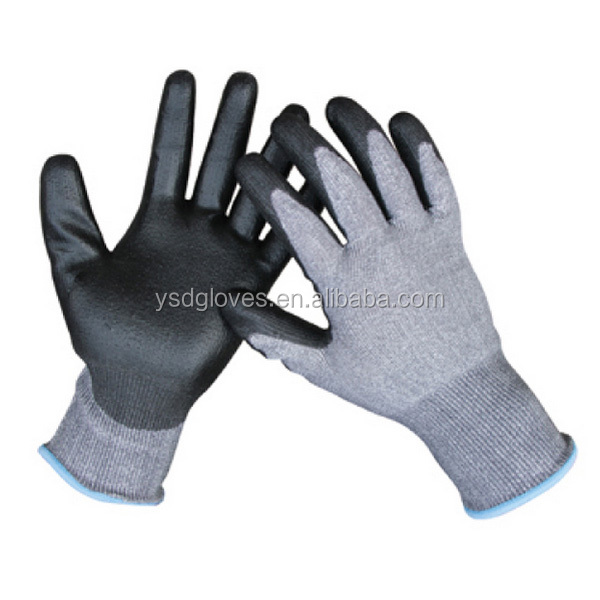 Cut Resistant 5 PU Gloves Super Soft Coated PU Gloves Protection Metal Working Glove
