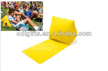 Inflatable Travel Lounge Pillow With Mat Backrest Wedge Beach Chair