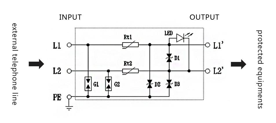 Surge Protection Circuit Diagram Download | Rj11 Phone Line Surge Protector Buy Sigle Channel Rj11 Surge
