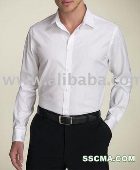 White Cotton Dress Shirt