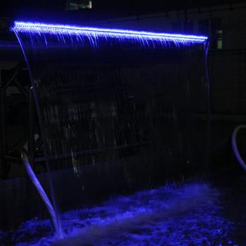 pool waterfall lighting. Stainless Steel Swimming Pool Waterfall Spa Jet Air Shower Nozzles Lighting