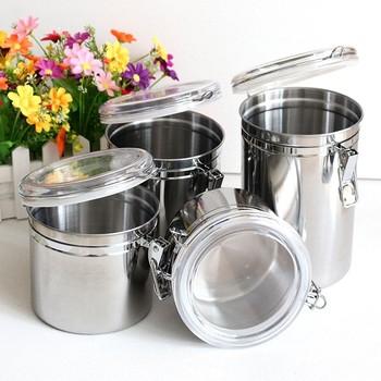 4pcs Stainless Steel Kitchen Storage Container Setsmutipurpose Food