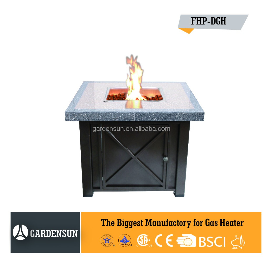 Gas outdoor fire pit table with hammered( tile fire pit) GARDENSUN 40000BTU with CE CSA AGA ISO