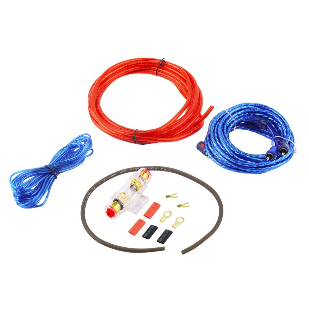 1500 Wát Car Audio Wire Amplifier Dây Loa Subwoofer Installation Kit 8GA Power Cable 60 AMP Fuse Chủ Vận Chuyển Miễn Phí ~