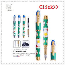 2018 China wholesaler classic high quality metal fountain pen with cheaper price