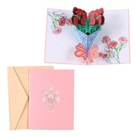 2019 top sell personalized holiday greeting cards pop up cards valentine 3d