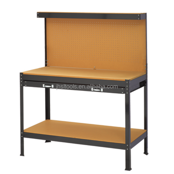 Modular Workbench Steel Work Table With Drawers Tools Workshop Folding ...