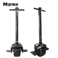 Manke Factory Price 350W unicycle fat tire self-balancing hoverboard 10 inch one wheel electric scooter with Bluetooth Control