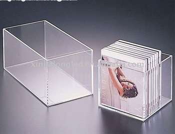 clear acrylic cd box or acrylic cd cases for 12 or 24cds buy acrylic cd box acrylic cube boxes. Black Bedroom Furniture Sets. Home Design Ideas