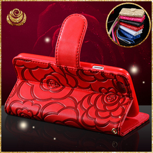 Brand Luxury Flower Pattern Leather Wallet Case For iphone 6 6s 4.7 /plus 5.5 Stand Flip Card Holder Protector Accessories Cover