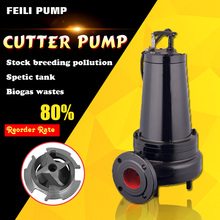 sewage pump 1.5kw copper wire cutting submersible water pump animal sewage double impeller shredder pumps