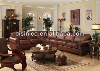 American style living room leather corner sofa,genuine leather living room  furniture(B14208), View sofa set living room furniture, BISINI Product ...
