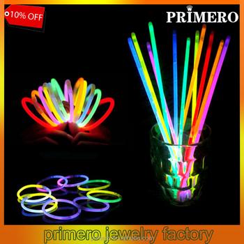 Primero 50pcs Bag Multi Color Glow Fluorescence Sticks Bracelets Necklaces Neon Party Bright Colorful Light