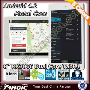 Hot rk3168 dual core 8inch android 4.2 tablet pc