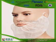 Disposable PP nonwoven beard hair cover with mask for food service