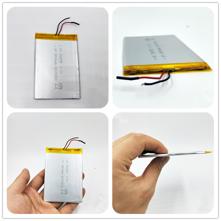 3.7V 2800mah li ion battery rechargeable battery 3.7v 2800mah 3570100 3.7v 2800mah battery