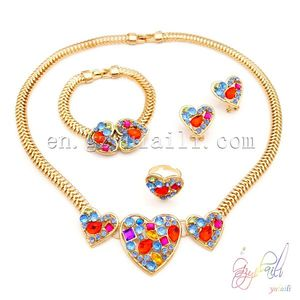 Lead and nickel safe alloy fashion jewelry sets 18 carat gold jewelry sets moti jewelry set