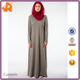 OEM 260gsm CVC long casual stylish muslim dress with hood for woman