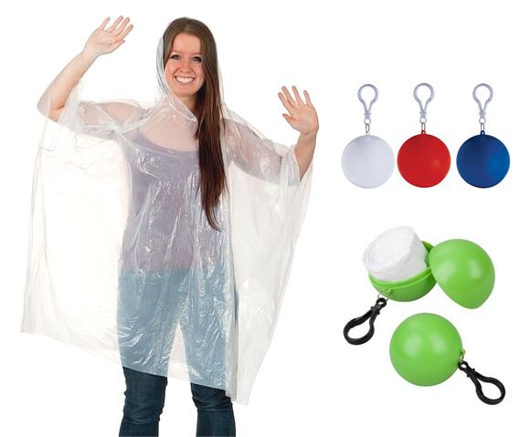 Cheap Keychain Ball Packing PE Disposable Rain Poncho