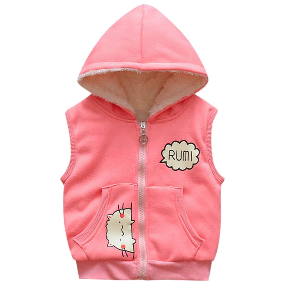 c53324e79 Get Quotations · Outtop(TM) Baby Boy Girl Waistcoat Toddler Kid Infant  Cartoon Jackets Warm Vest Clothes