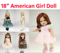 Vinyl American 18 inch Girl Doll Collection Baby Alive Toys Handmade brinquedos meninas dolls new Style