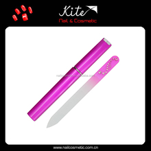 Promotional glass nail file with customized design printed nail file with pumice stone