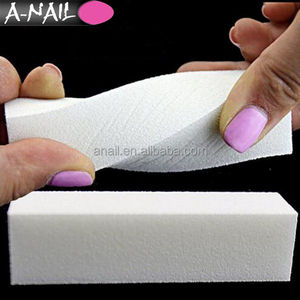 Professional Buffing Sanding Nail Buffer Block Files Acrylic Pedicure 4 Way White Buffer Block for Nail Art Manicure