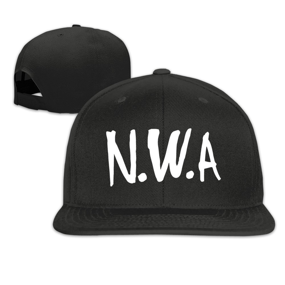 Straight outta Compton Flat Peak Snapback//Fitted Baseball Cap Black Adjustable White Writing Snapback