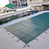 Super Dense Mesh pool safety cover winter leaf Swimming cover,safety Waterproof swimming pool cover