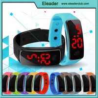 hin Outdoor Sports Silicone Waterproof Digital Gym Running LED Adjustable Wrist Watch